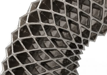 A lattice pipe designed using Crystallon. Photo via food4rhino.