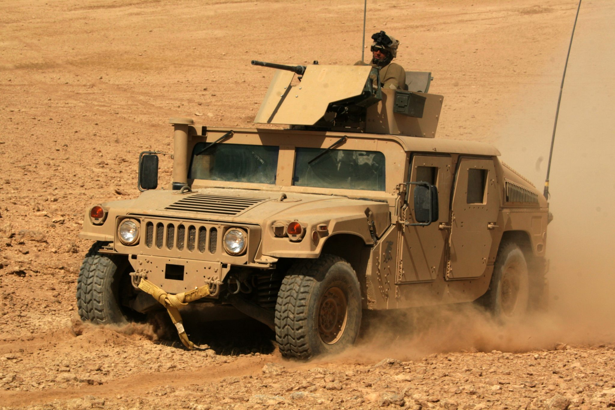 A Humvee (High Mobility Multipurpose Wheeled Vehicle) truck as repaired by 3D printing at MWSS-372. Photo via U.S. Marine Corps