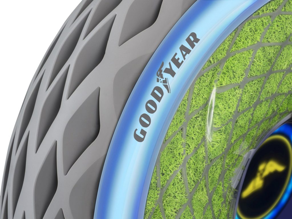 Goodyear's Oxygene moss tire concept. Image via Goodyear