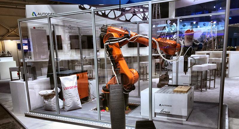 OCORE's large-scale KUKA-powered 3D printer. Photo via Livrea Yacht