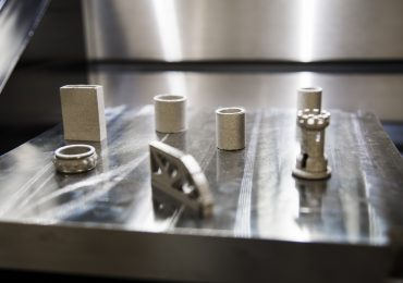 Metal 3D printed samples at Auburn. Photo Auburn University