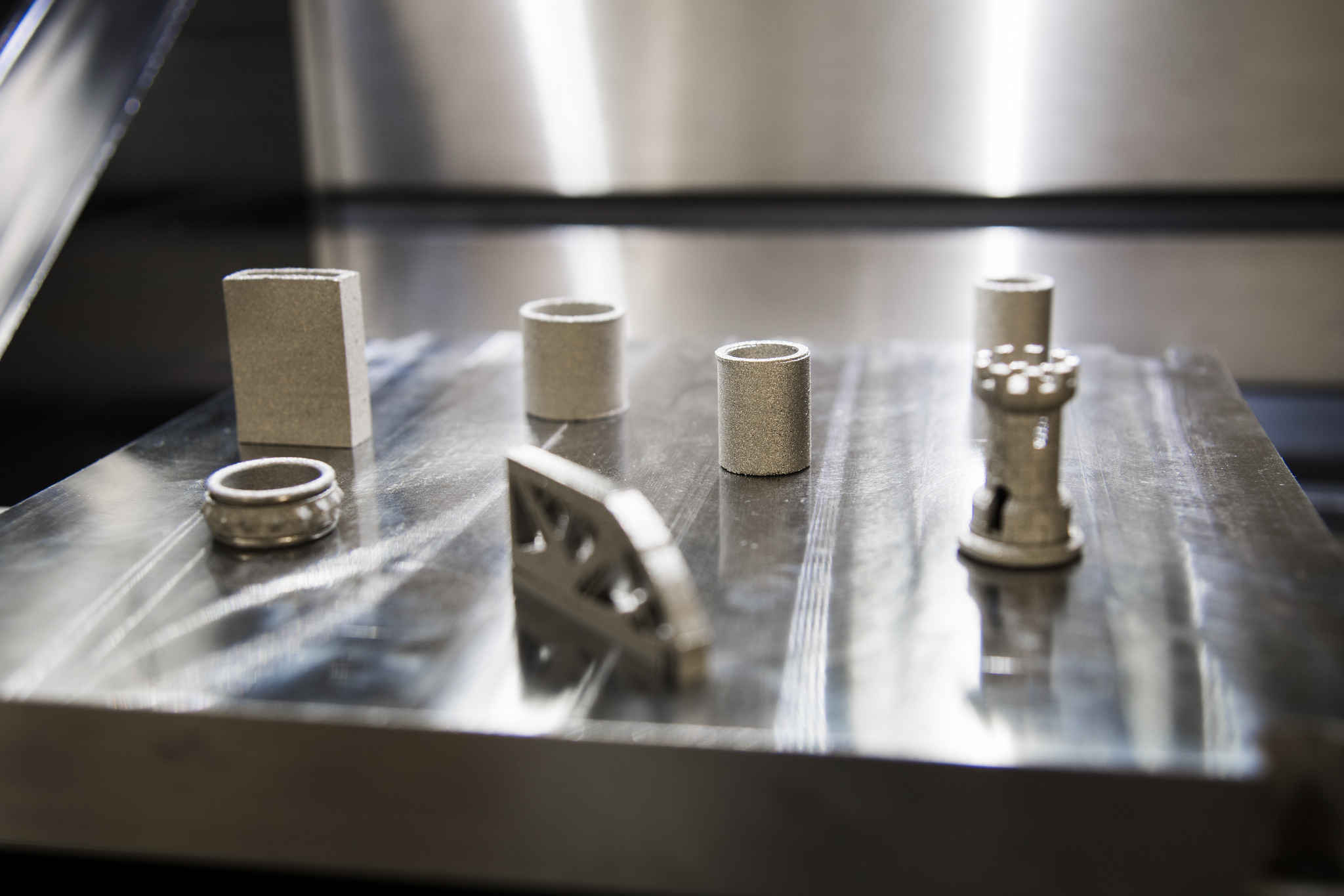 Metal 3D printed samples from a previous project at Auburn. Photo via Auburn University.
