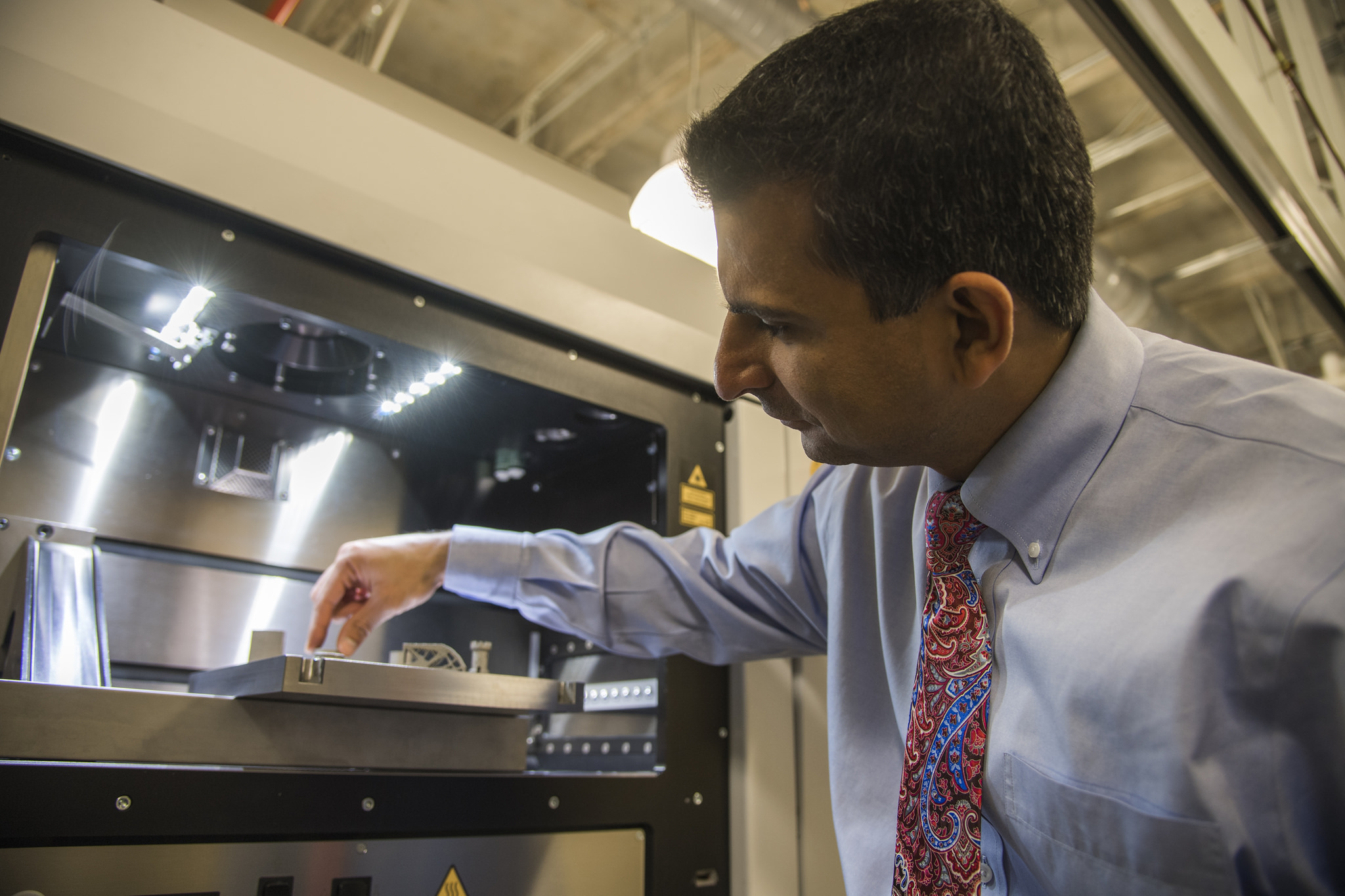 Dr. Nima Shamsaei is a primary investigator for operation at the National Additive Manufacturing Center of Excellence. Photo via Auburn University