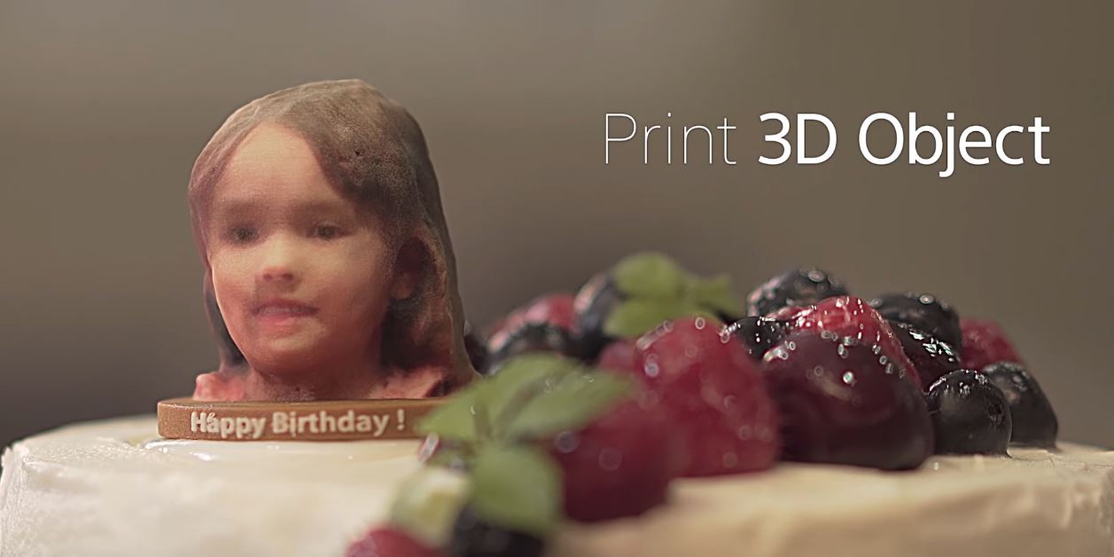 An example of what Sony thinks the 3D Creator app could be used for. Photo via Sony.