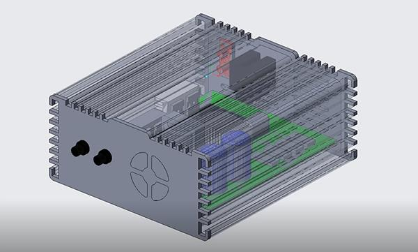 Creo 5.0 adds support for simulating fluid flow. Image via PTC.