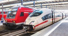Different types of Deutsche Bahn train. Photo via Deutsche Bahn
