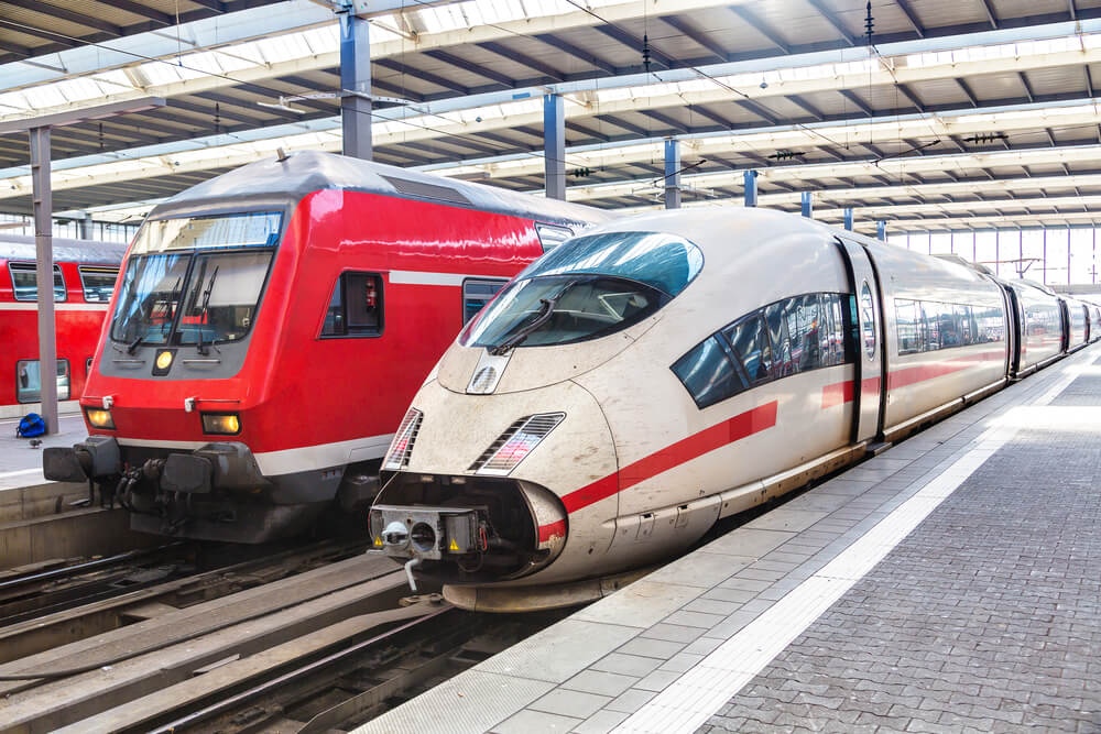 Different types of Deutsche Bahn train. Photo via Deutsche Bahn