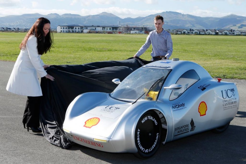 Eco Marathon car. Photo via university of Canterbury.