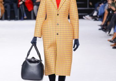 Gvasalia's 3D printed jackets have been noted for their hourglass silhouettes. Photo via Balenciaga.