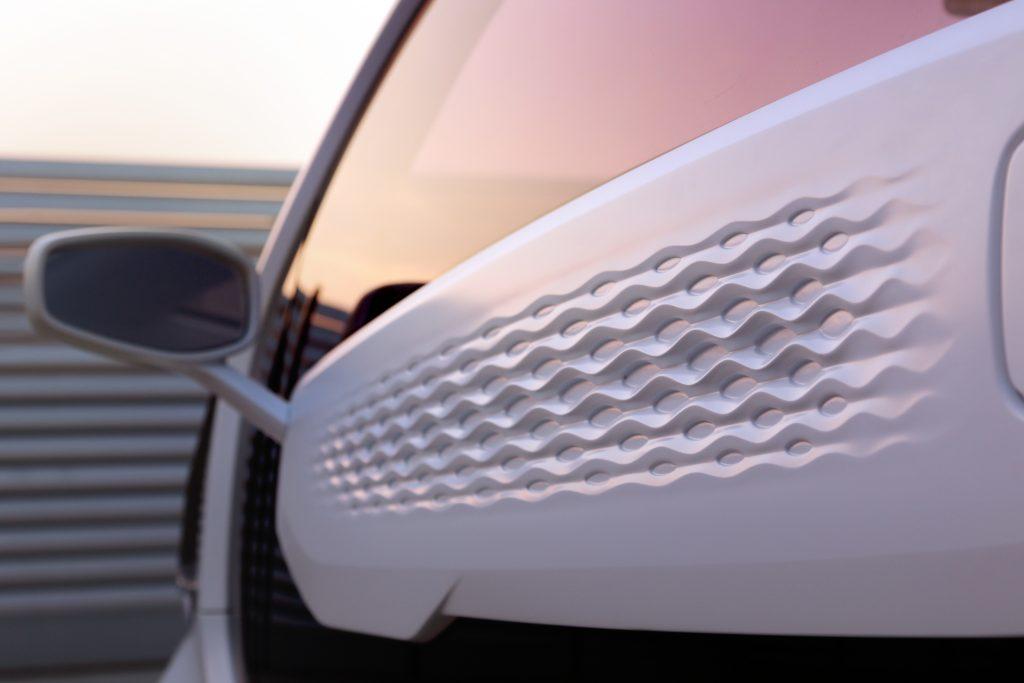 Side detail of a 3D printed LSEV. Photo via Polymaker