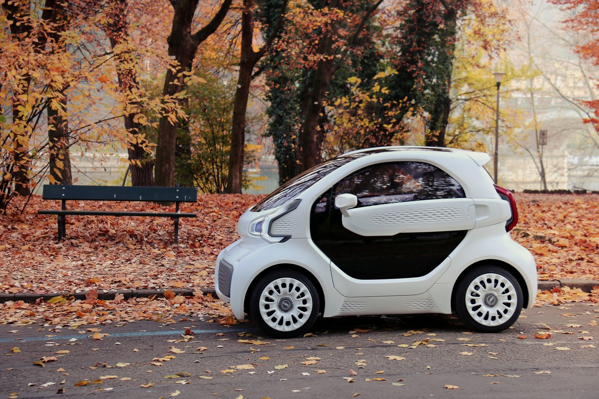 XEV and Polymaker's 3D printed electric car. Photo via Polymaker