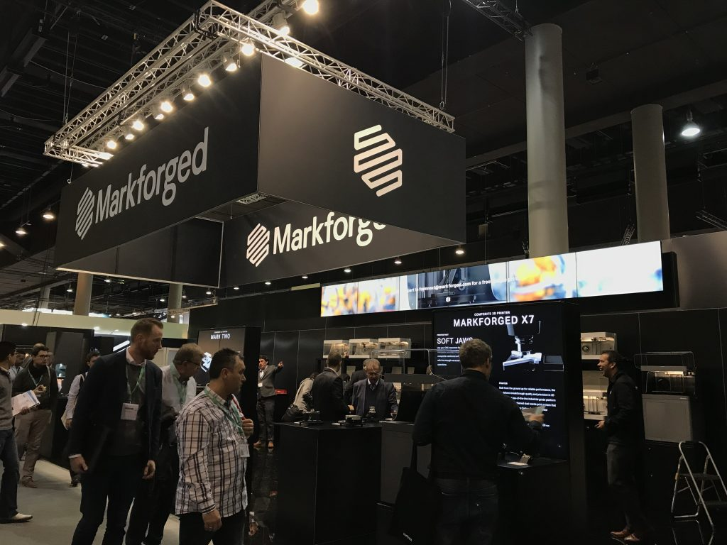 Markforged booth at Formnext 2017. Photo by Beau Jackson
