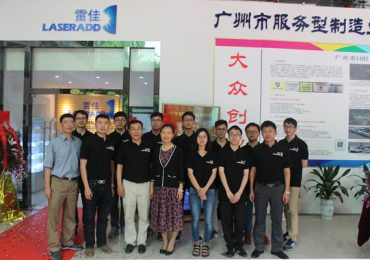 The Laseradd team at their Guangzhou office. Photo via Laseradd.