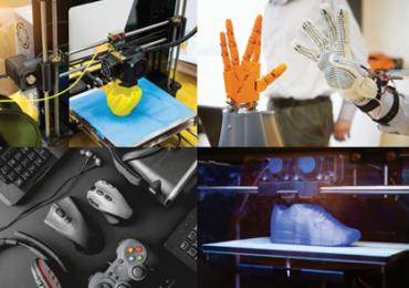 A range of Lubrizol 3D printing applications. Photo via Lubrizol.