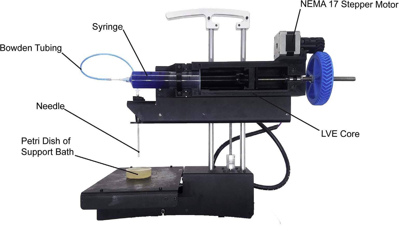 PrintrBot Simple Metal modified with the LVE. Image via Kira Pusch, Thomas J.Hinton, Adam W.Feinberg.