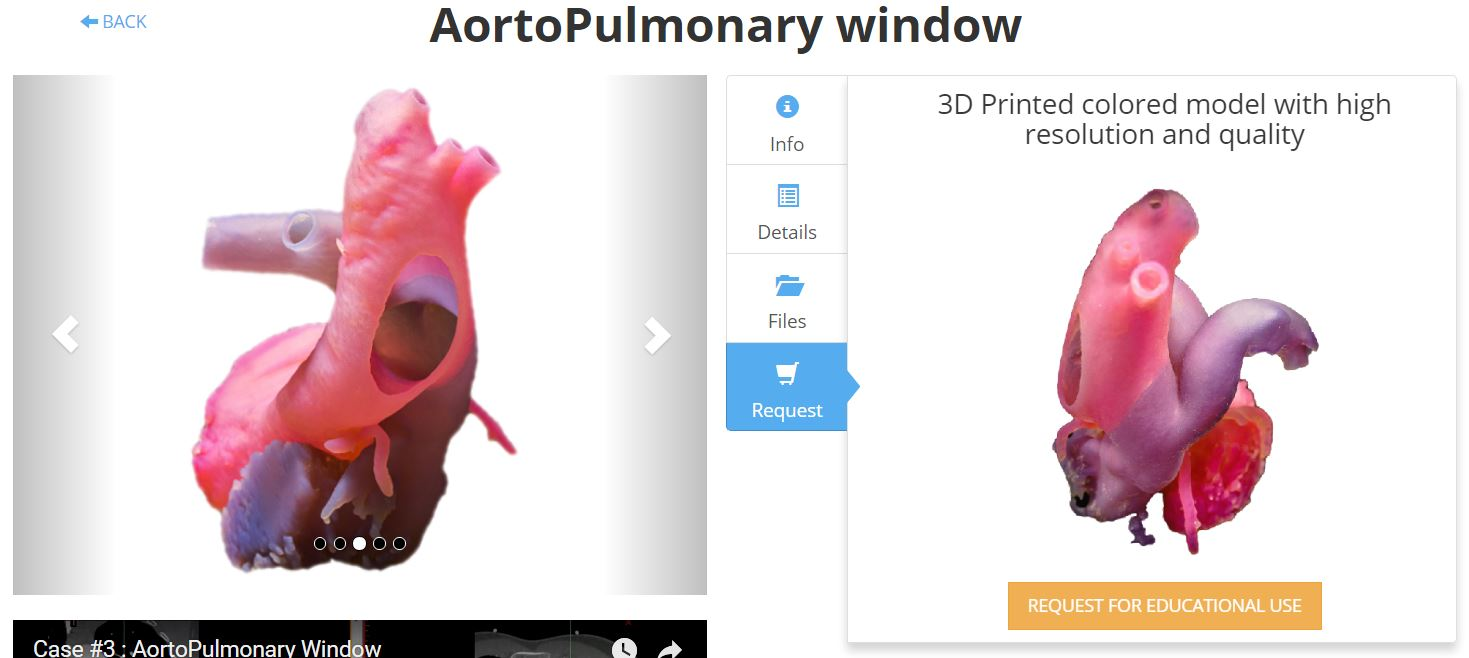 Requesting a quote for a 3D printed heart model. Image via 3D Life.