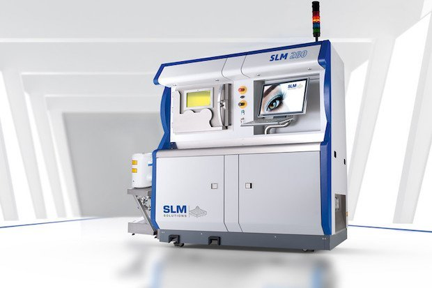 An SLM Solutions 280 metal 3D printer, one of the metal 3D printers used by CTC. Photo via SLM Solutions.