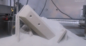 Stainless steel bracket 3D printed by Aurora Labs. Image via Aurora Labs