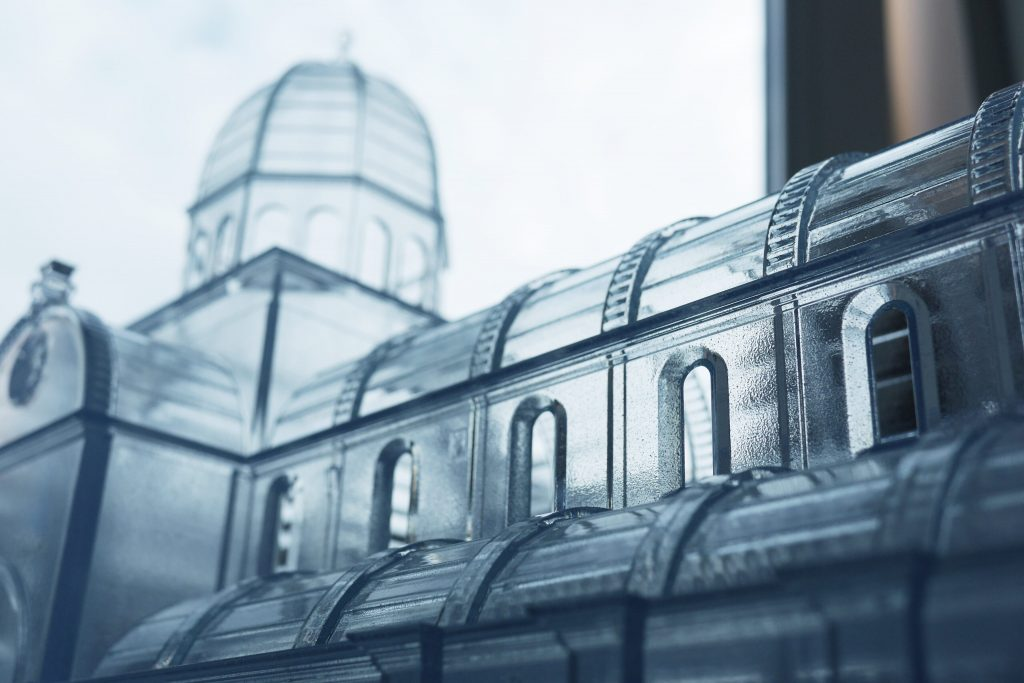 The 3D printed model of Sibenik Cathedral of St. James. Photo via Vectirno.