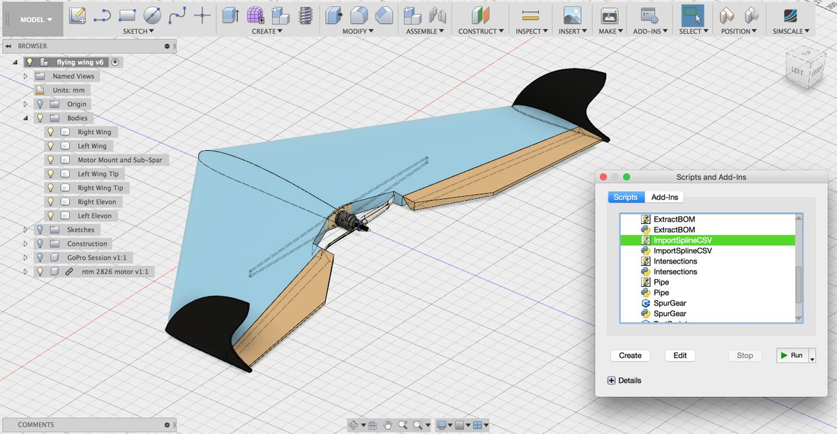 The UAV was designed in Autodesk Fusion 360. Image via University of Warwick.