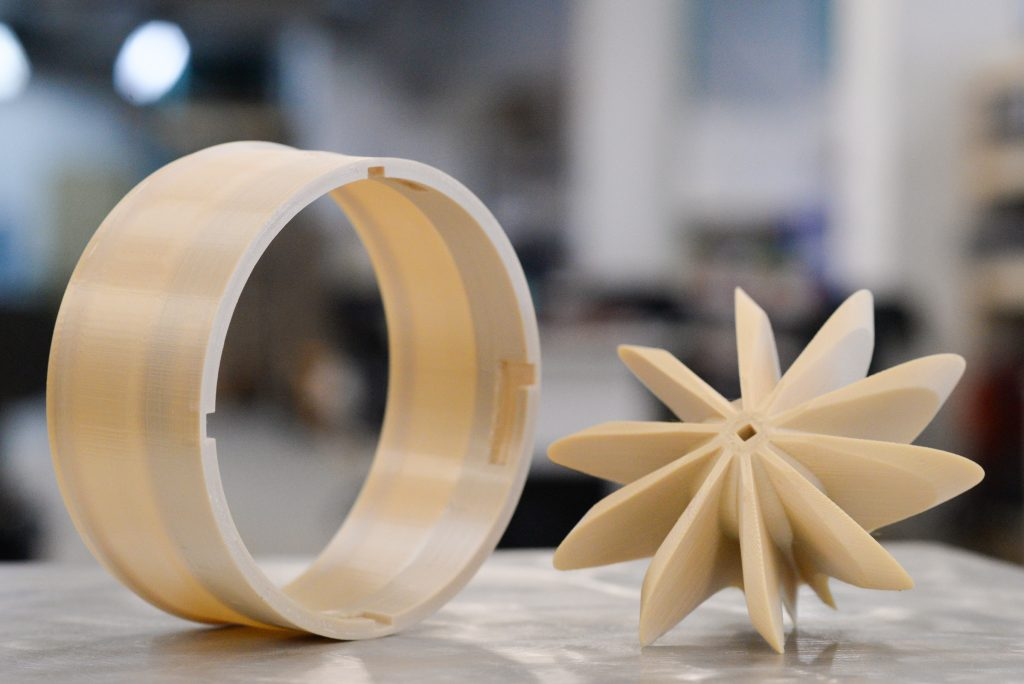 """CNC quality"" Ultem 3D printed parts from an AON-M2. Photo via AON3D"