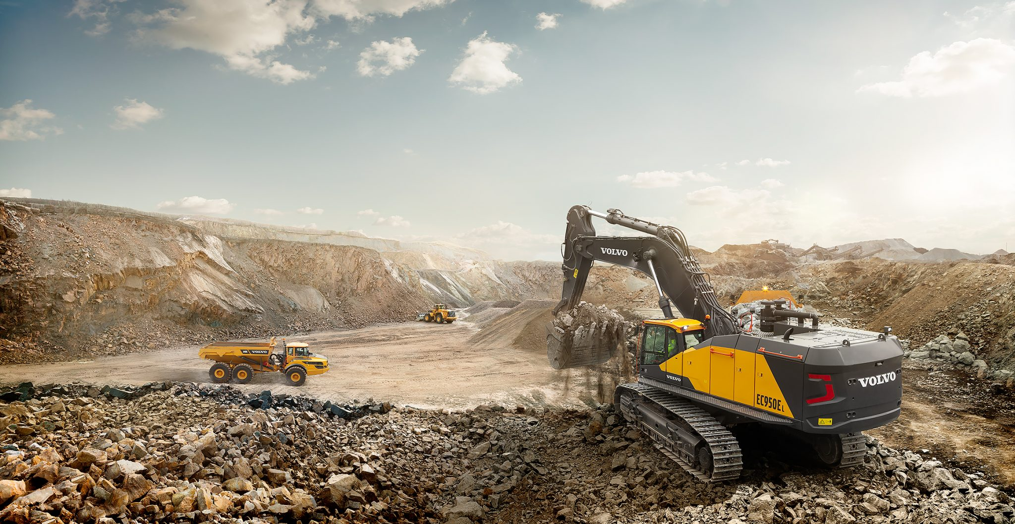 Volvo CE's EC950E crawler is one of the many machines which the company will be 3D printing spare parts for. Photo via Volvo CE