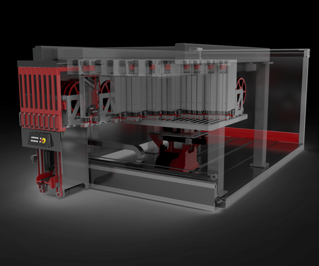 Digital demo of Fill's Multilayer machine. Image via Fill
