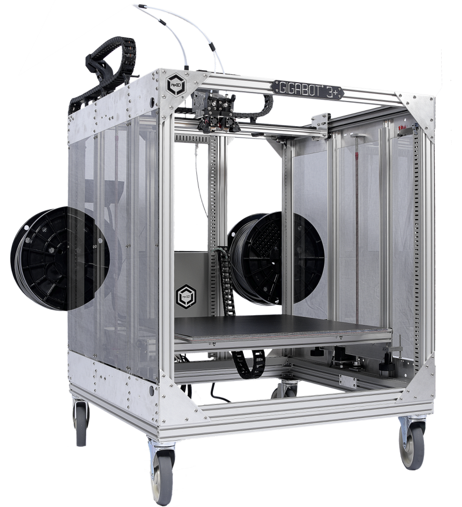 The Gigabot X will be the latest addition to the Gigabot family. Pictured above is the Gigabot 3+ large format 3D printer. Photo via re:3D