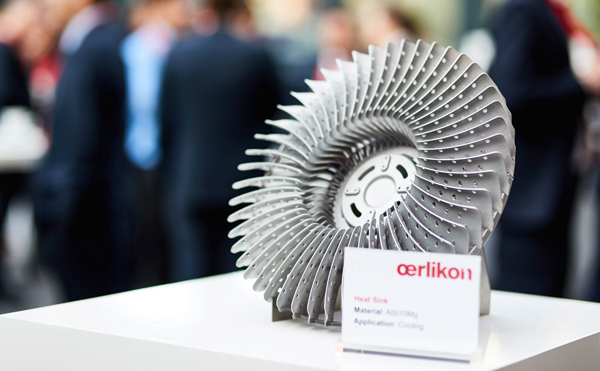 Metal 3D printed parts. Photo via Oerlikon