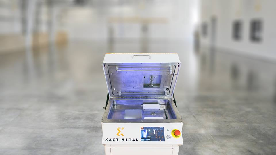 A look inside Xact Metal 3D printers. Photo via Xact Metal