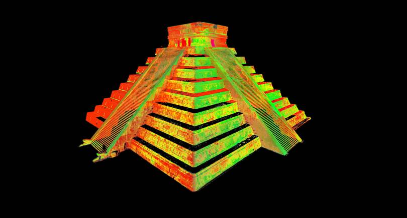 3D models of the Chichén Itzá created using a combination of photogrammetry and LiDAR scanning. Image via CyArk.