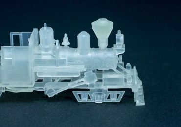 3D printed steam train design by Jeevi. Photo via Shapeways