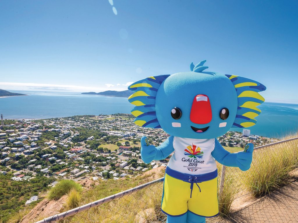 Borobi the koala, official mascot for the Gold Coast 2018 Commonwealth Games. Photo via Queensland Tourism