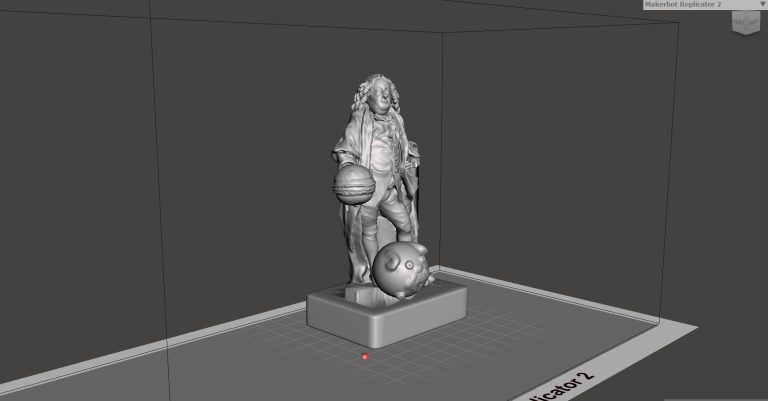 A 3D model created by a young patient at Great Ormond Street Hospital, based on the Joshua Ward c.1761 sculpture at the V&A. Image via V&A.