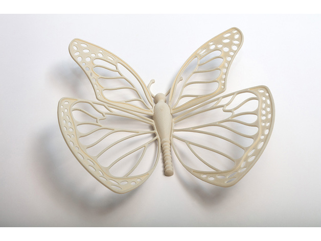 Butterfly printed in UPM's Formi 3D filament. Picture via UPM.