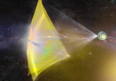 Conceptual render of Alpha CubeSat's light-sail. Image via SSDS.