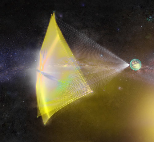 Conceptual render of Alpha CubeSat's light-sail. Image via SSDS.