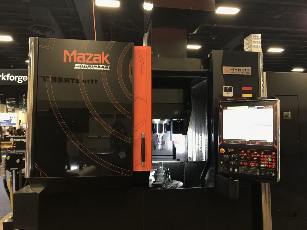 The Mazak VC-500 AM HYBRID Mulit-Tasking Machine. Photo by Beau Jackson