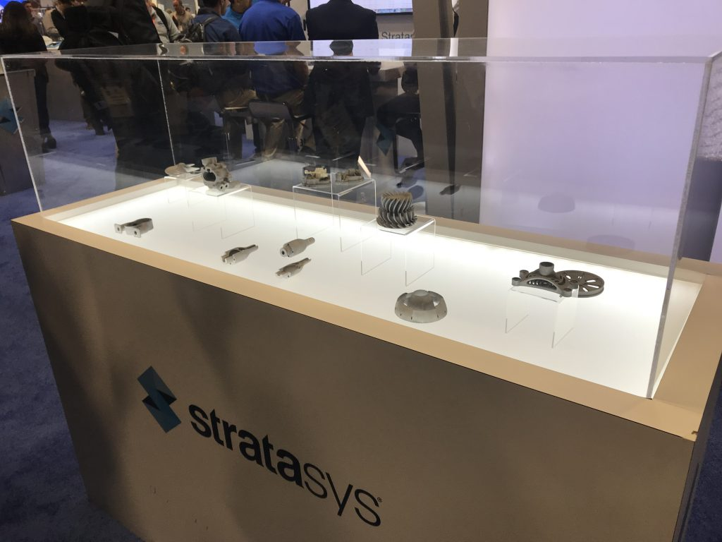 Metal 3D printed sample by Stratasys. Photo by Beau Jackson