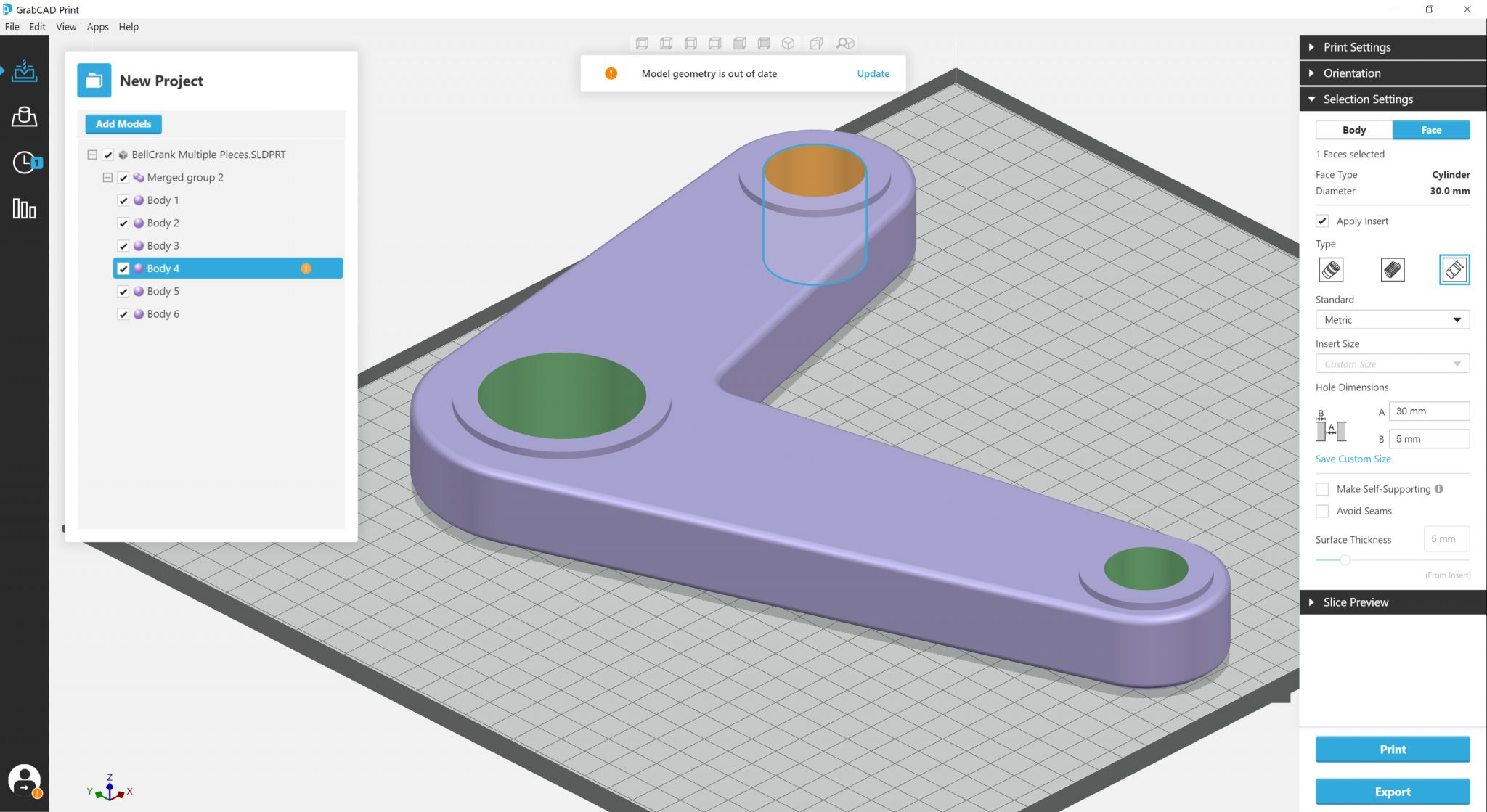 Jigs and Fixtures for GrabCAD Print. Image via Stratasys.