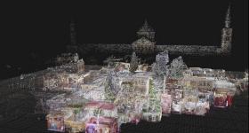 LiDAR scan of Al Azem Palace, Syria. Image via Google.