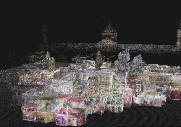 LiDAR scan of Al Azem Palace, Syria. Image via Google.