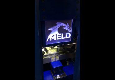 Printhead inside MELD's B8 metal additive machine. Screengrab via Aeroprobe on YouTube
