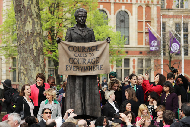 Millicent Garrett Fawcett statue, in Parliament Square. Photo via Getty Images, by Dan Kitwood.