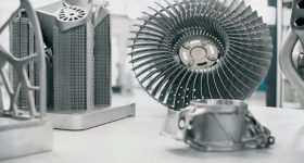 Metal 3D printed parts. Photo via Oerlikon