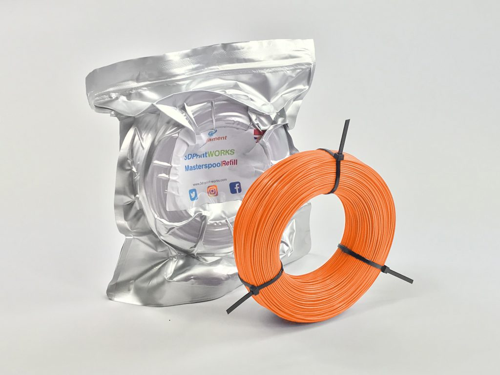 Vacuum-packed Masterspool refill. Photo via 3D Print Works