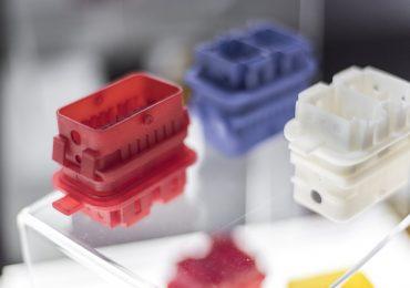 BASF X400M photopolymer resin 3D printed samples. Photo via BASF
