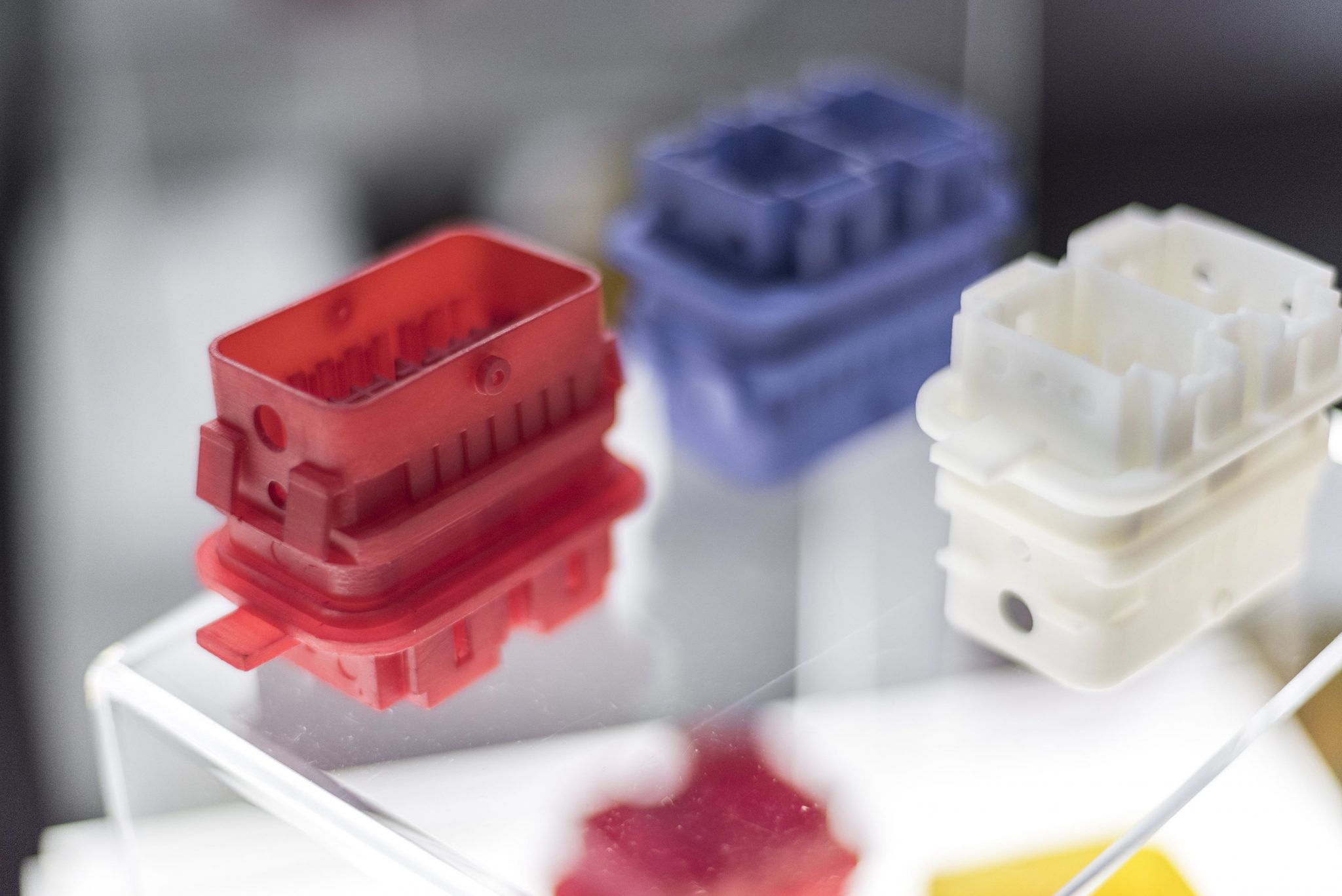 BASF X400M photopolymer resin 3D printed samples. Photo via BASF