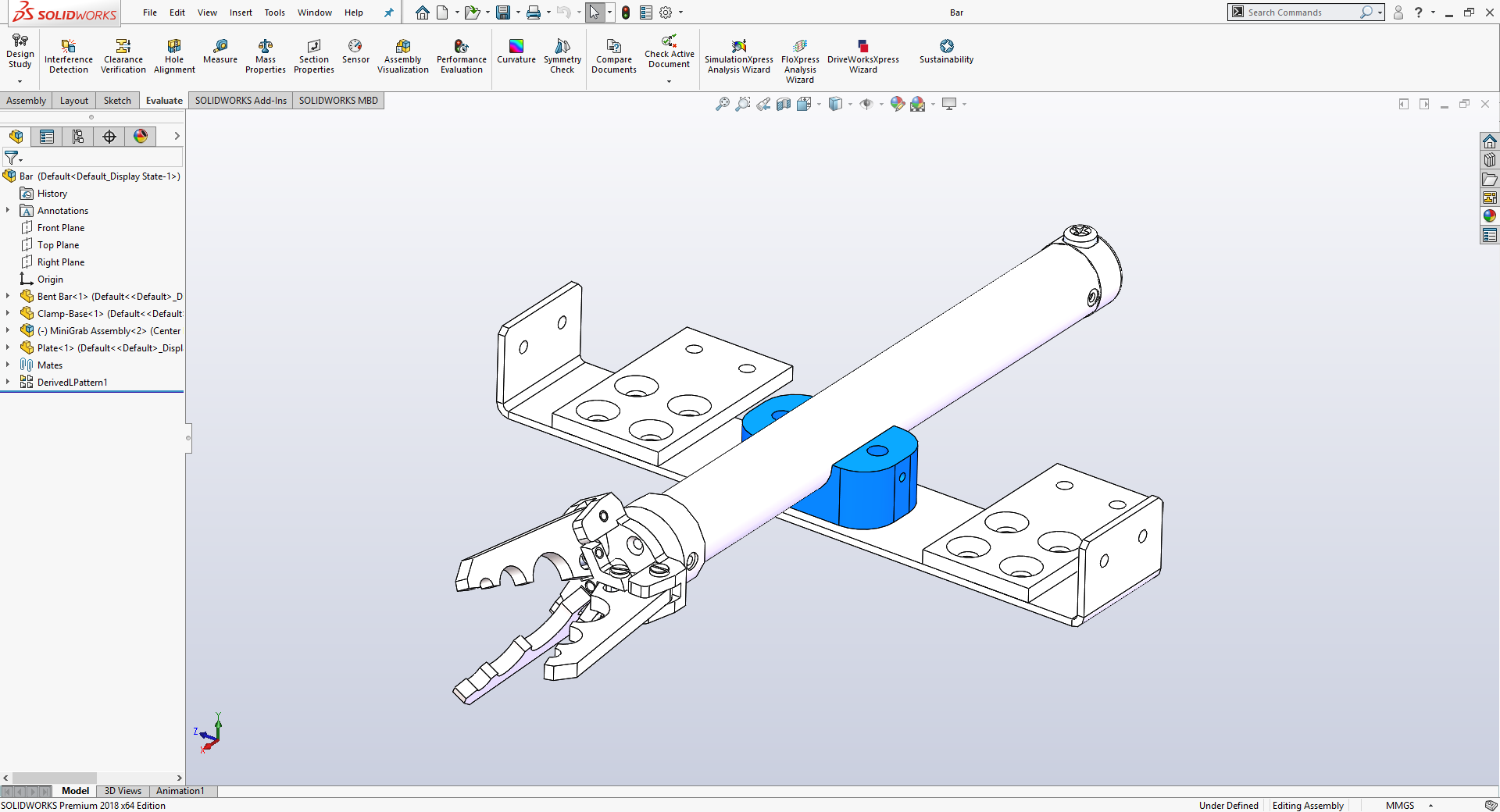 Part assemblies in SolidWorks. Image via SolidWorks