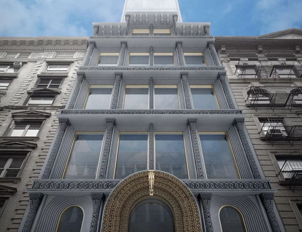Render of a facade produced with 3D printing certification. Image via EDG.